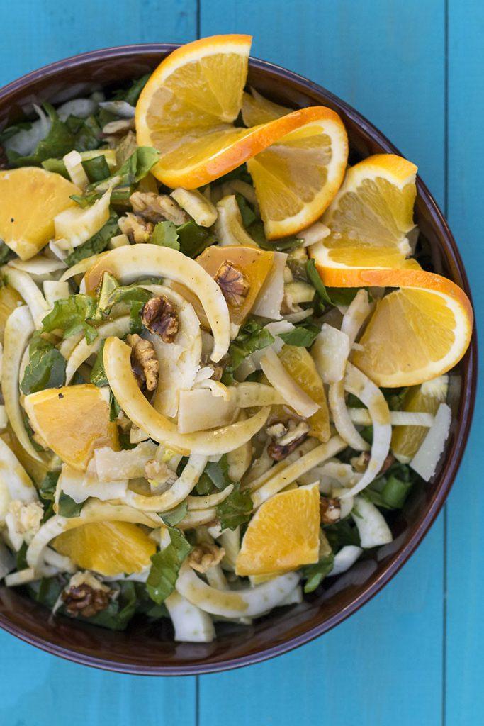 σαλάτα με μαραθόριζα πορτοκάλι και ούζο 2