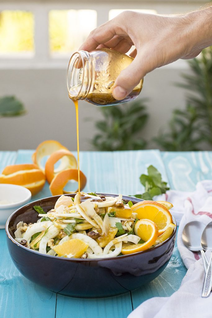 σαλάτα με μαραθόριζα πορτοκάλι και ούζο 3