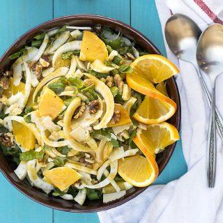 σαλάτα με μαραθόριζα πορτοκάλι και ούζο 4