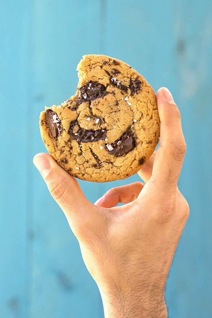 Μαλακά μπισκότα με κομμάτια σοκολάτας (νηστίσιμα) 1