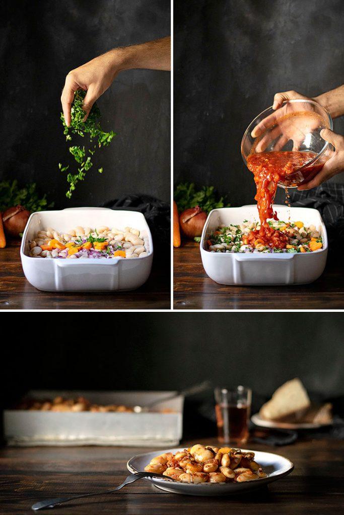 Φασόλια γίγαντες στο φούρνο - Πλακί 4