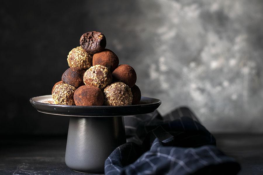 Υγιεινά τρουφάκια σοκολάτας (νηστίσιμα – βίγκαν) 3