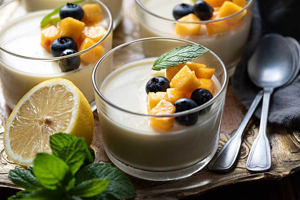 κρέμα λεμόνι με φρούτα