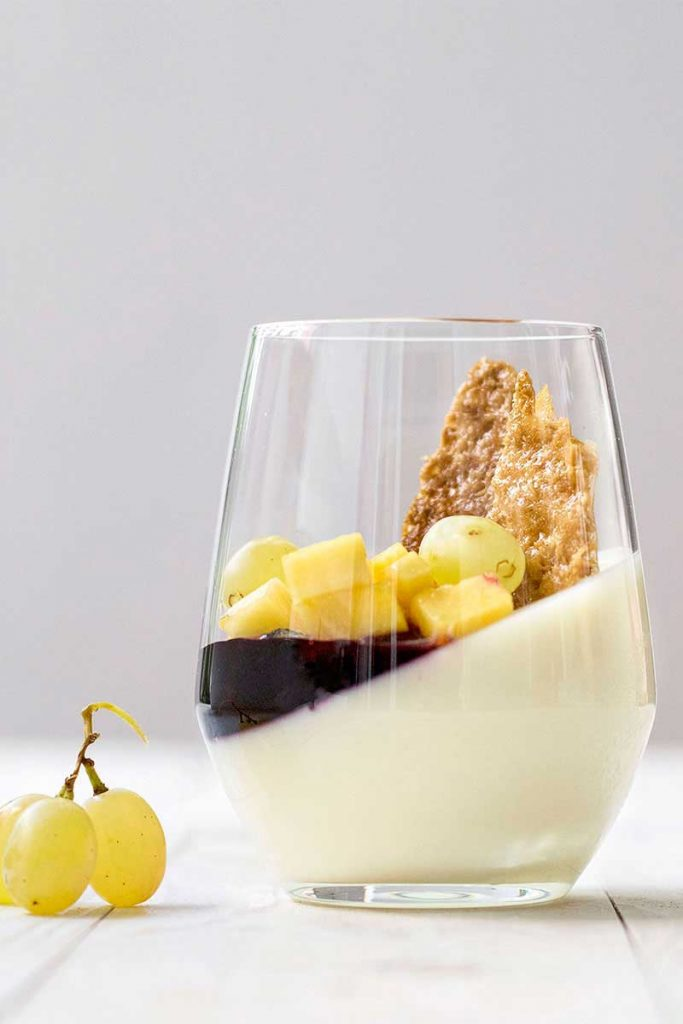 sweet wine panna cotta