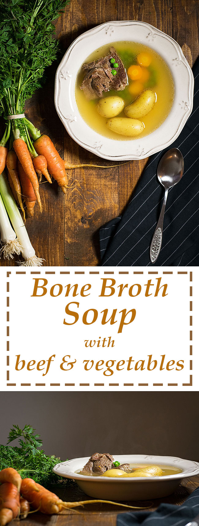 bone broth soup with beef and vegetables 5