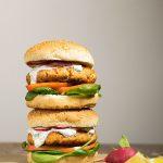 healthy salmon burgers