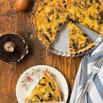 portobello and leek tart | thehungrybites.com
