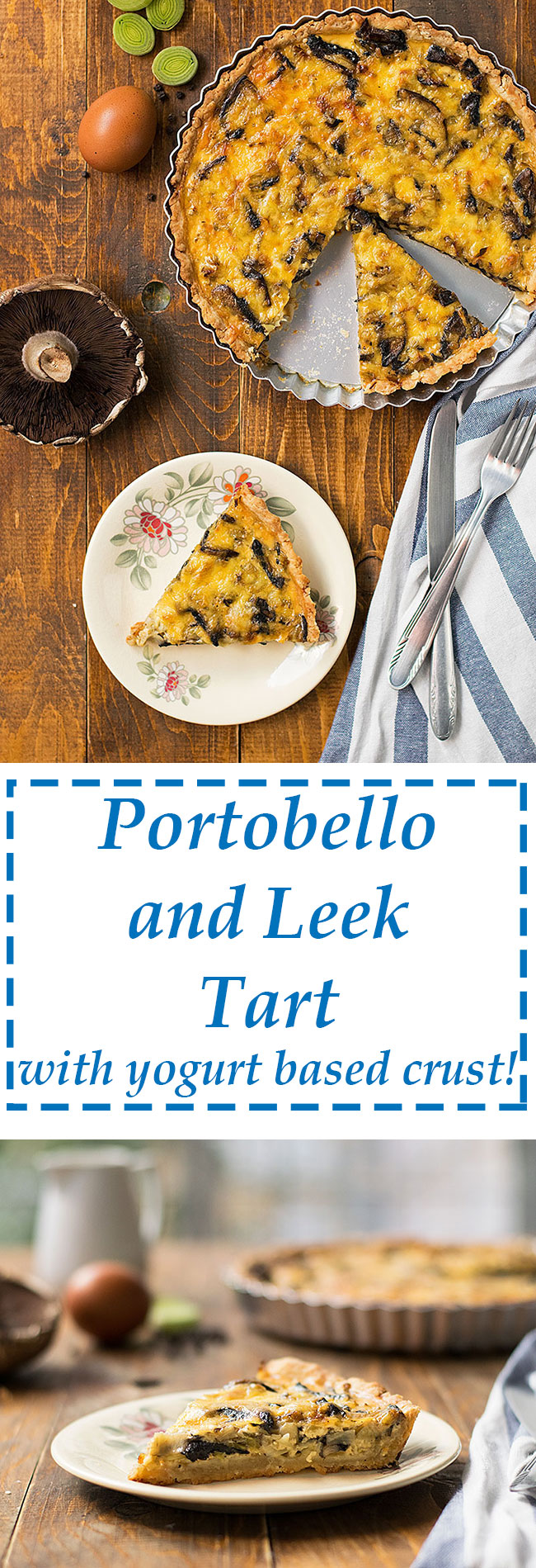 portobello and leek tart   thehungrybites.com