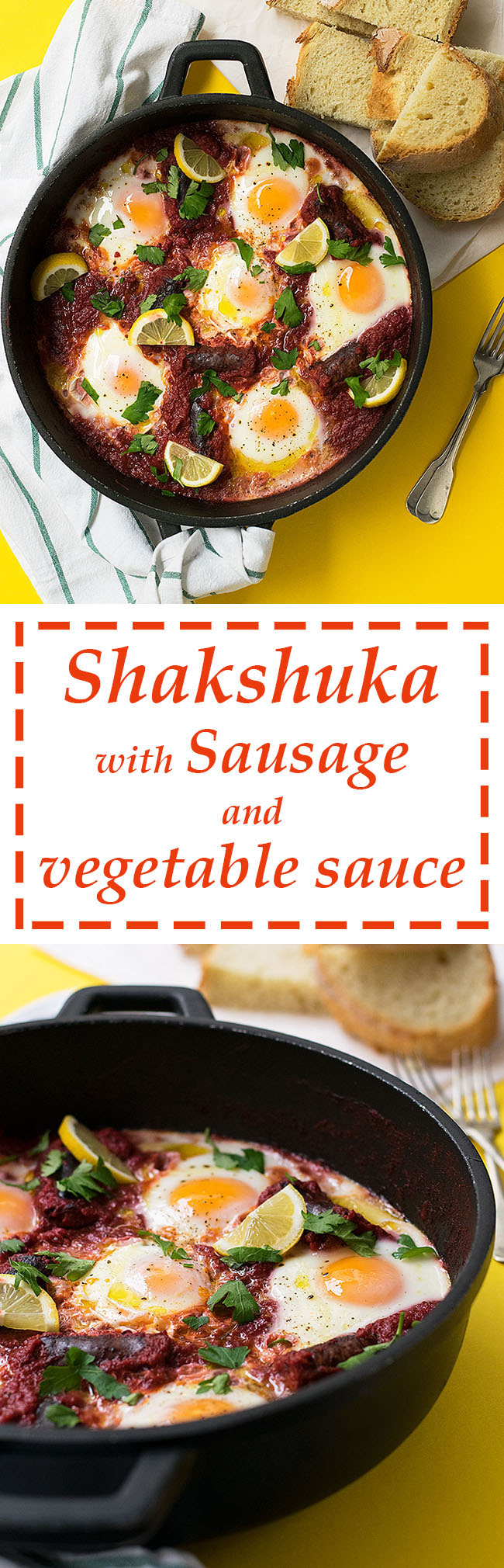 shakshuka with sausage and vegetable sauce 4