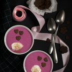 white chocolate & berry Valentine's soup