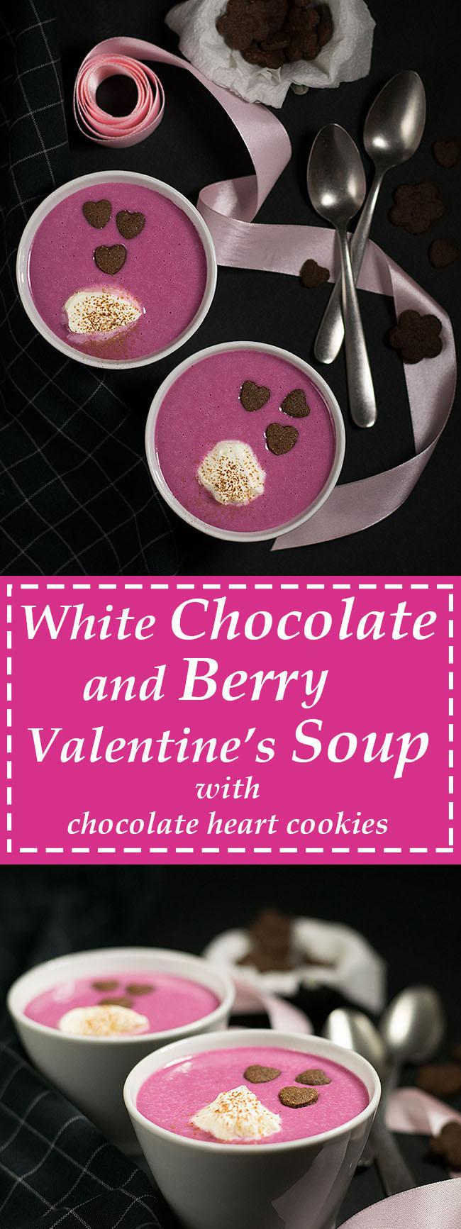white chocolate & berry Valentine's soup 6