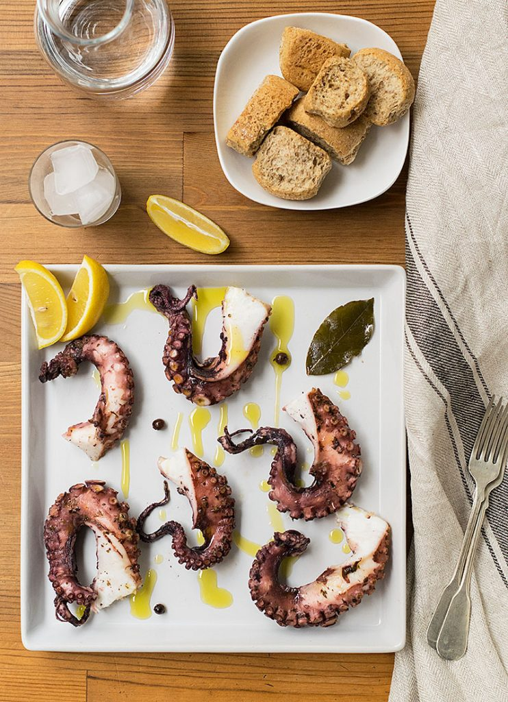 easy baked octopus in foil 3