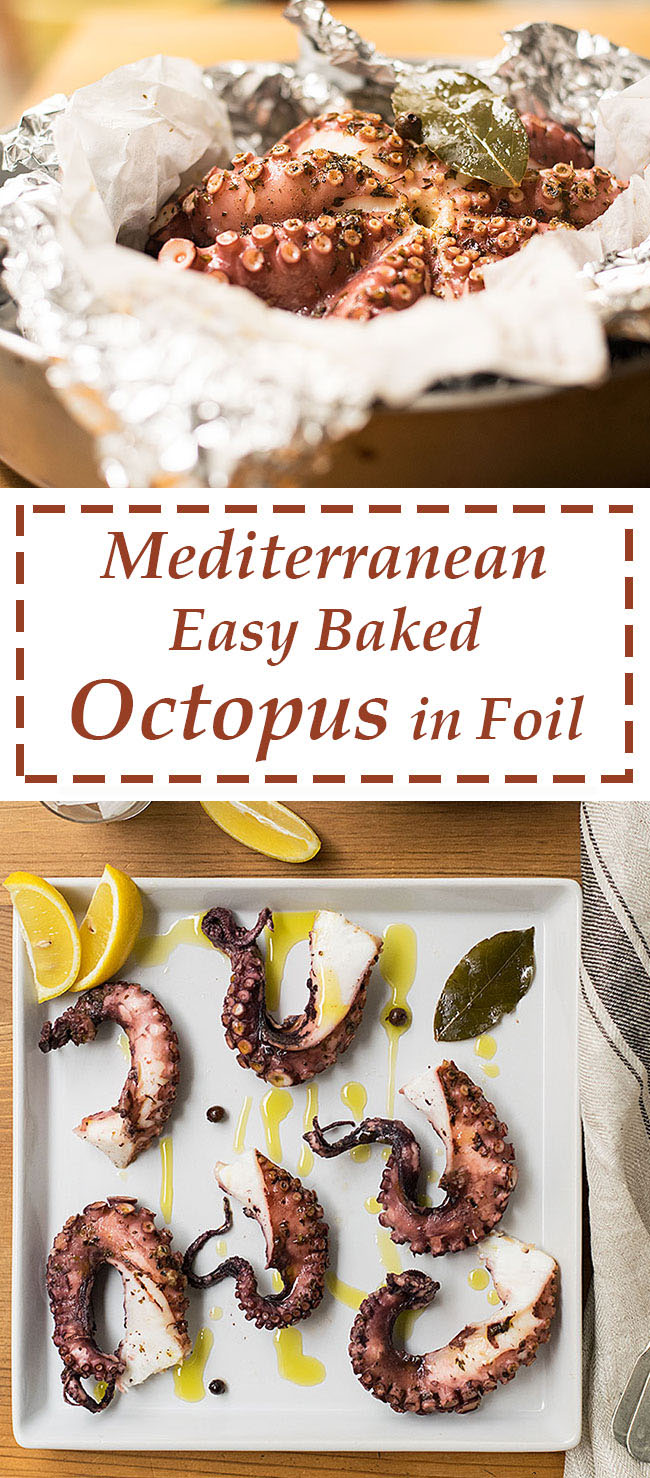 easy baked octopus in foil 5