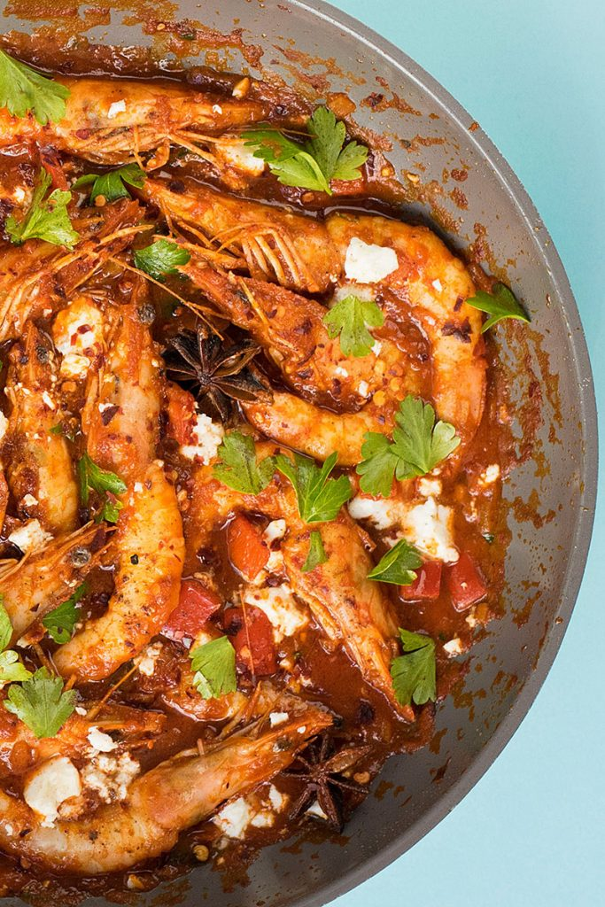 Juicy shrimp saganaki 3