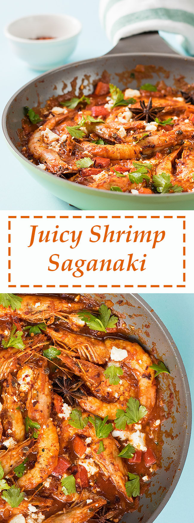 Juicy shrimp saganaki 6