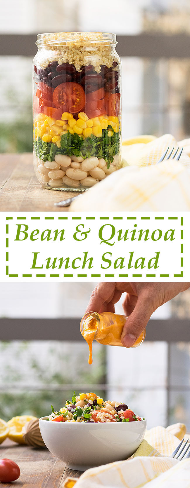 Quinoa and bean lunch salad 4
