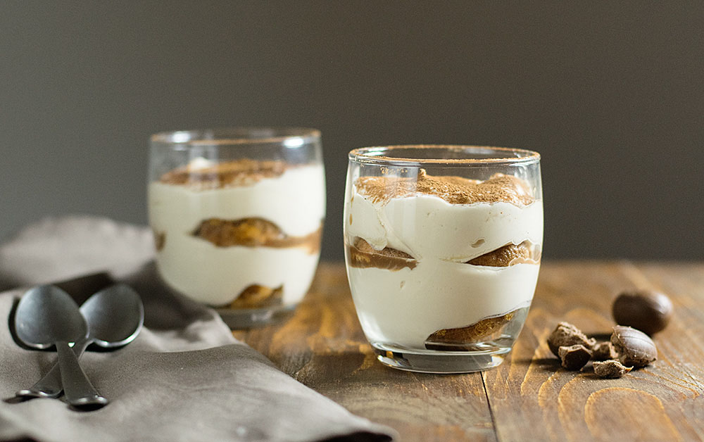 Faux tiramisu in a glass (eggless) 4