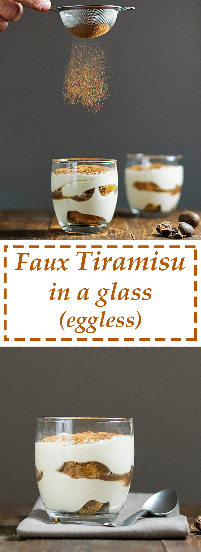 Faux tiramisu in a glass (eggless) 5