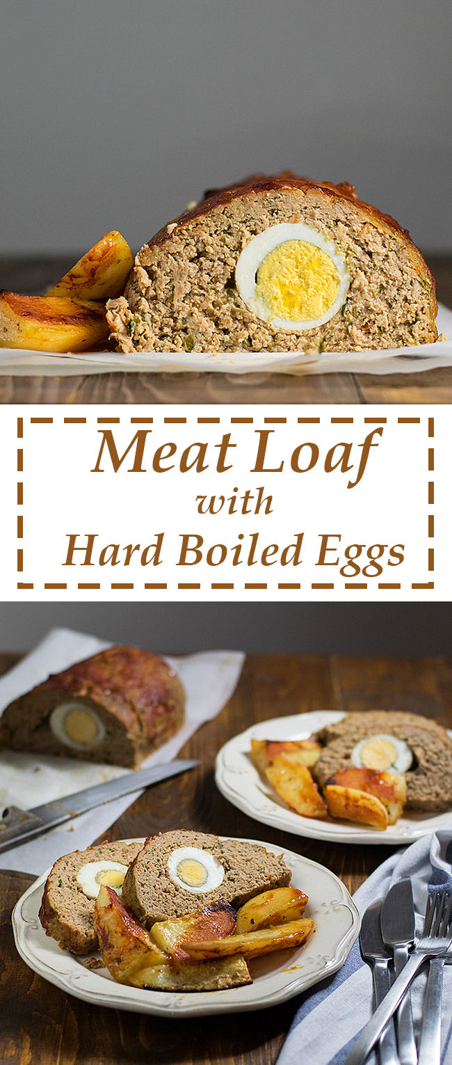 Meatloaf with hard boiled eggs 6