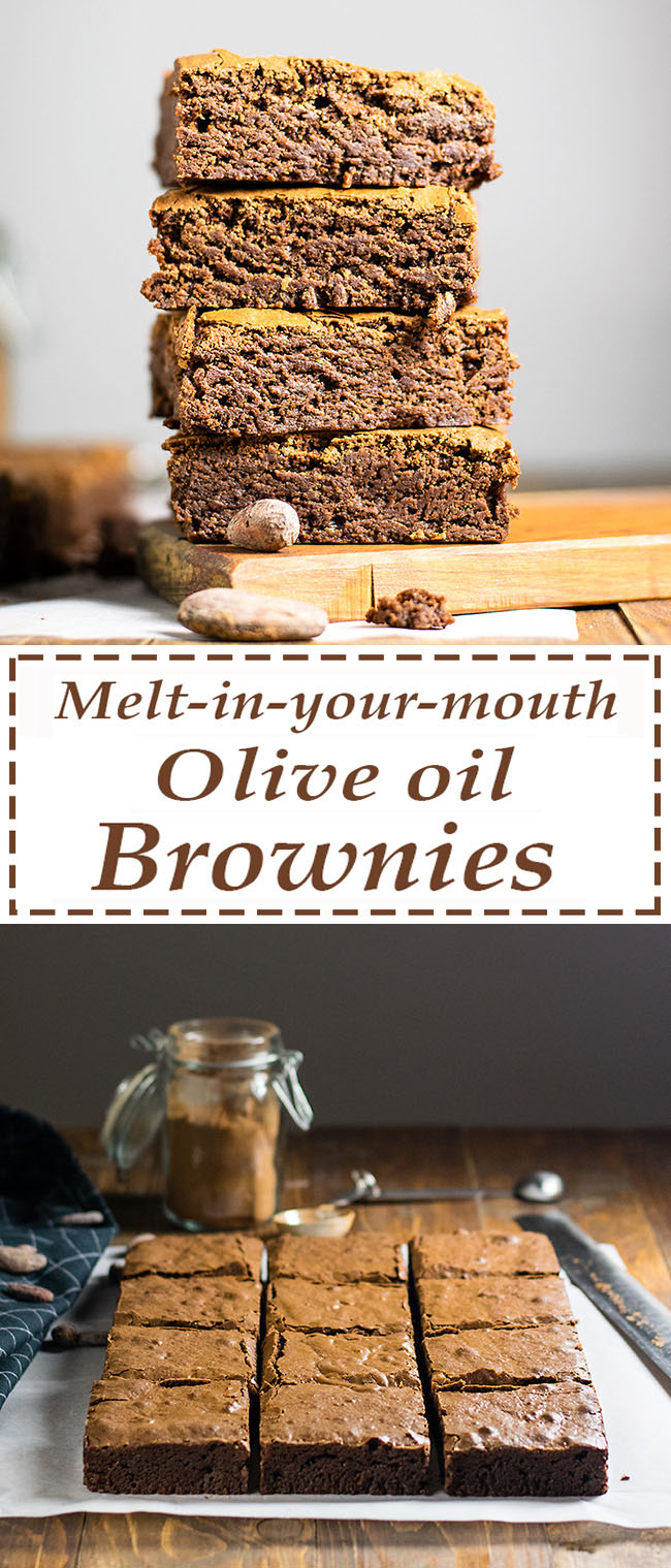 Melt in your mouth olive oil brownies 6