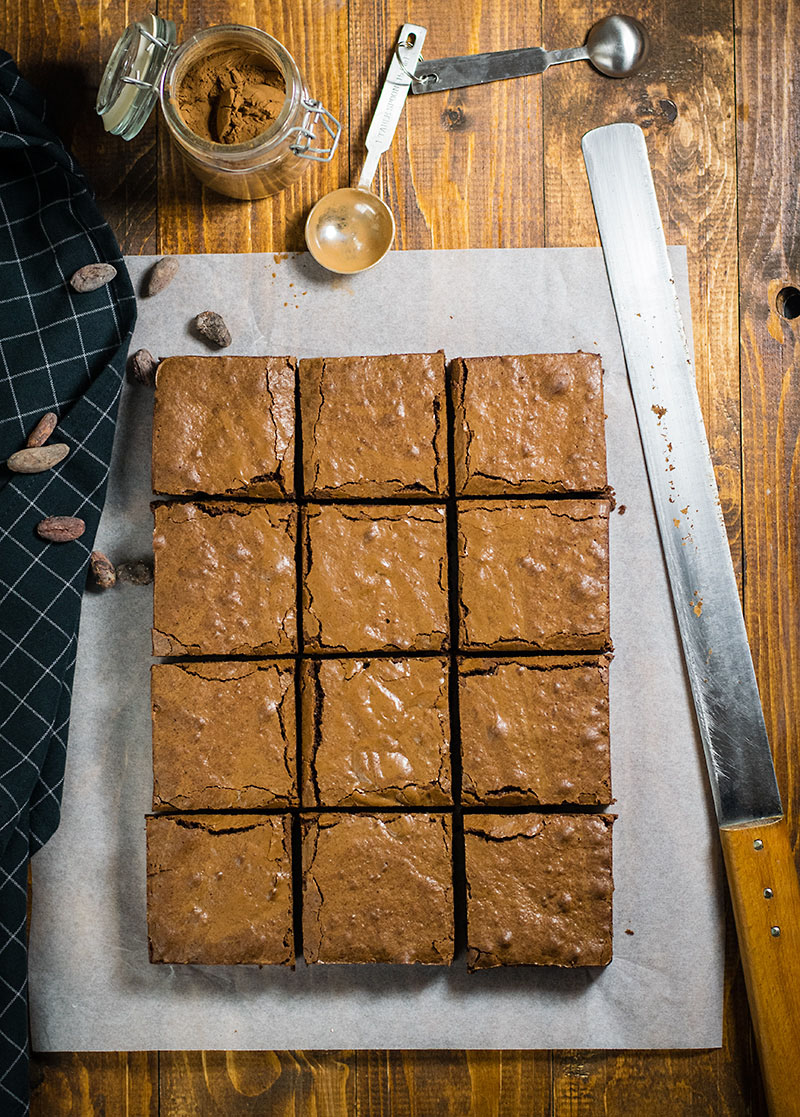 Melt in your mouth olive oil brownies