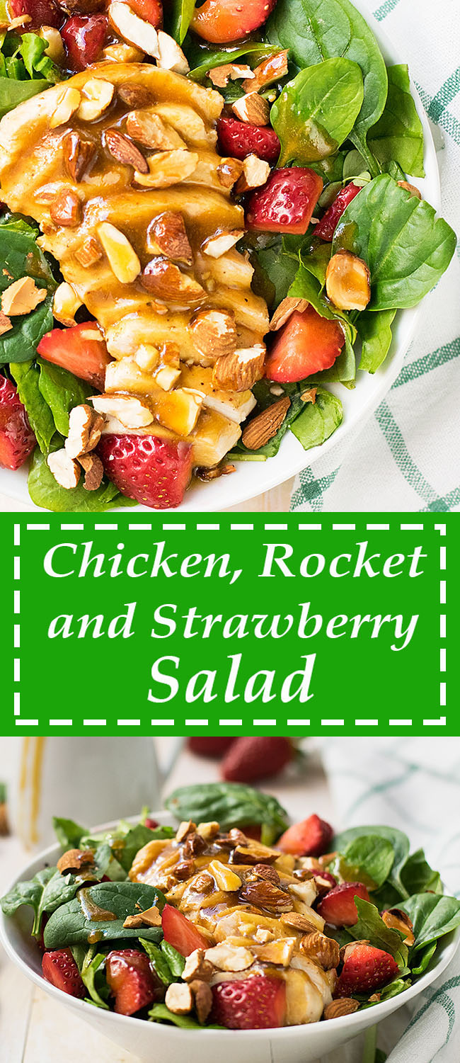 Chicken rocket and strawberry salad 6