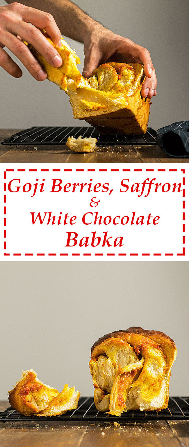 Goji berry, saffron & white chocolate babka 7