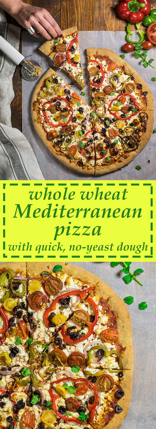 Whole wheat Mediterranean pizza 5