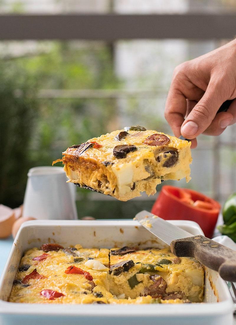 Greek oven baked frittata 4