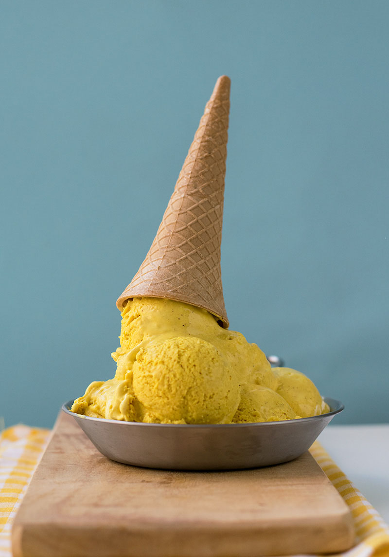 Bee pollen golden milk no-churn ice cream 4