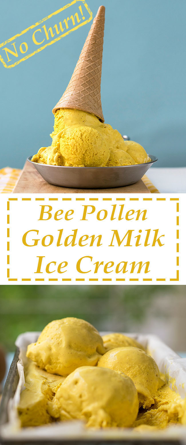 Bee pollen golden milk no-churn ice cream 5