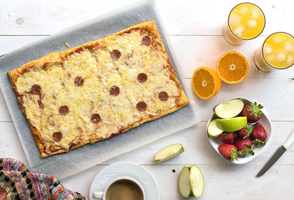 Croissant dough pizza 2
