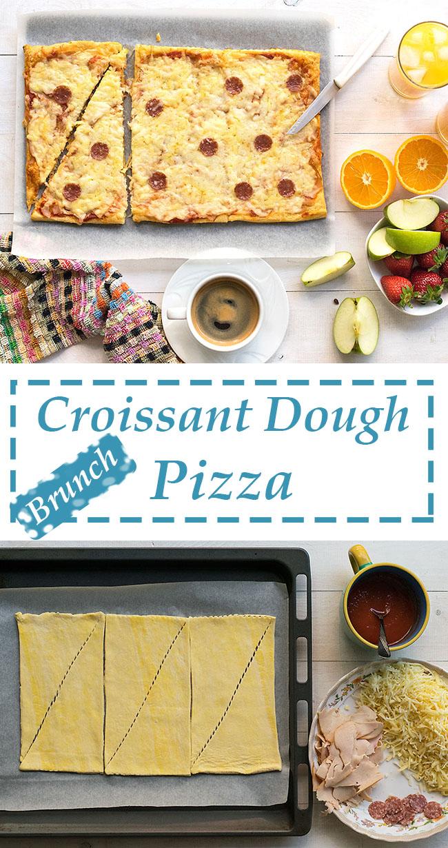 Croissant dough pizza 5