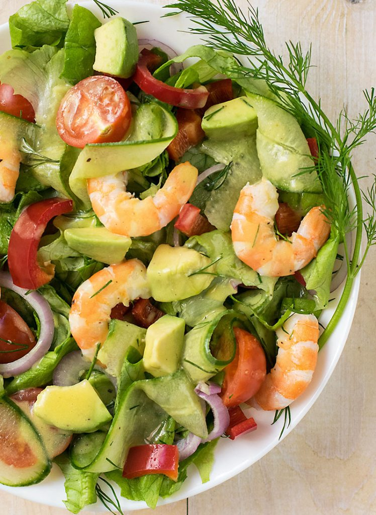 Mediterranean shrimp and avocado salad 2