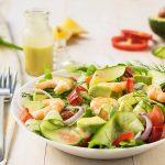 Mediterranean shrimp and avocado salad 3