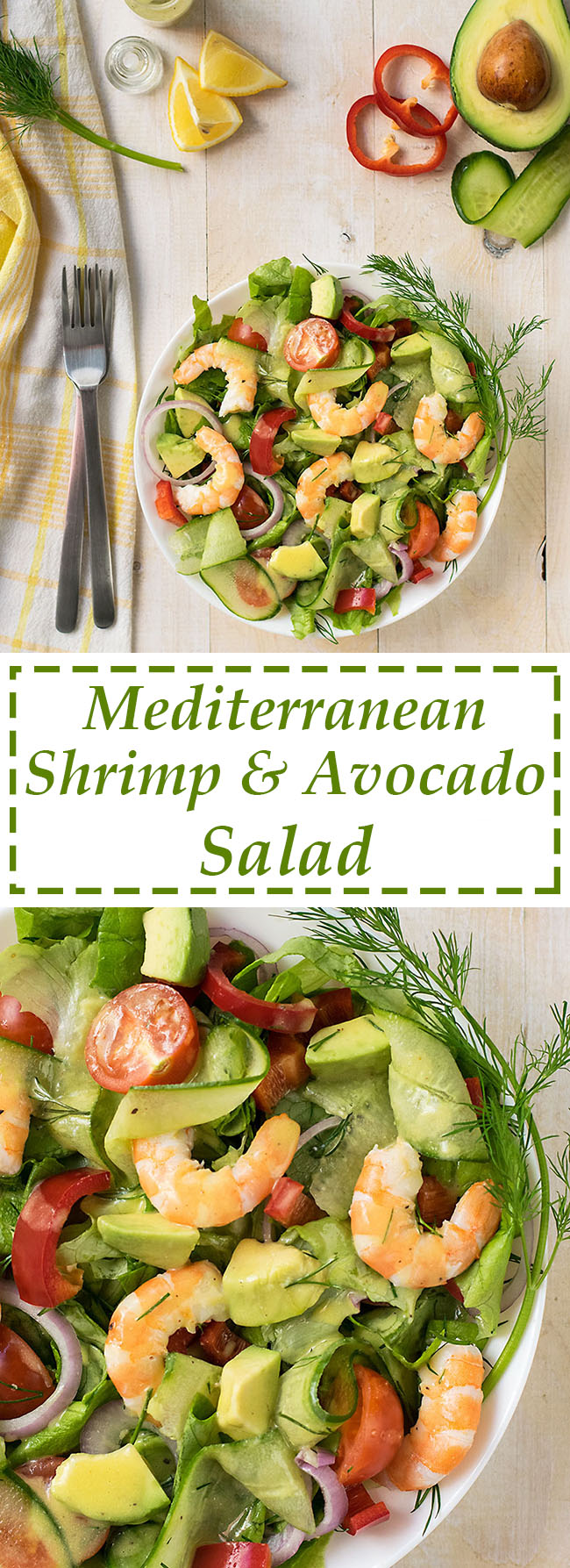 Mediterranean shrimp and avocado salad 5