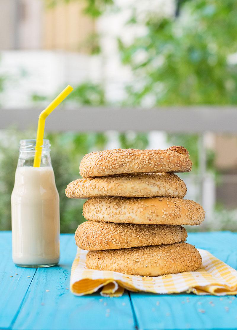 Greek sesame bagels (koulouri) 3