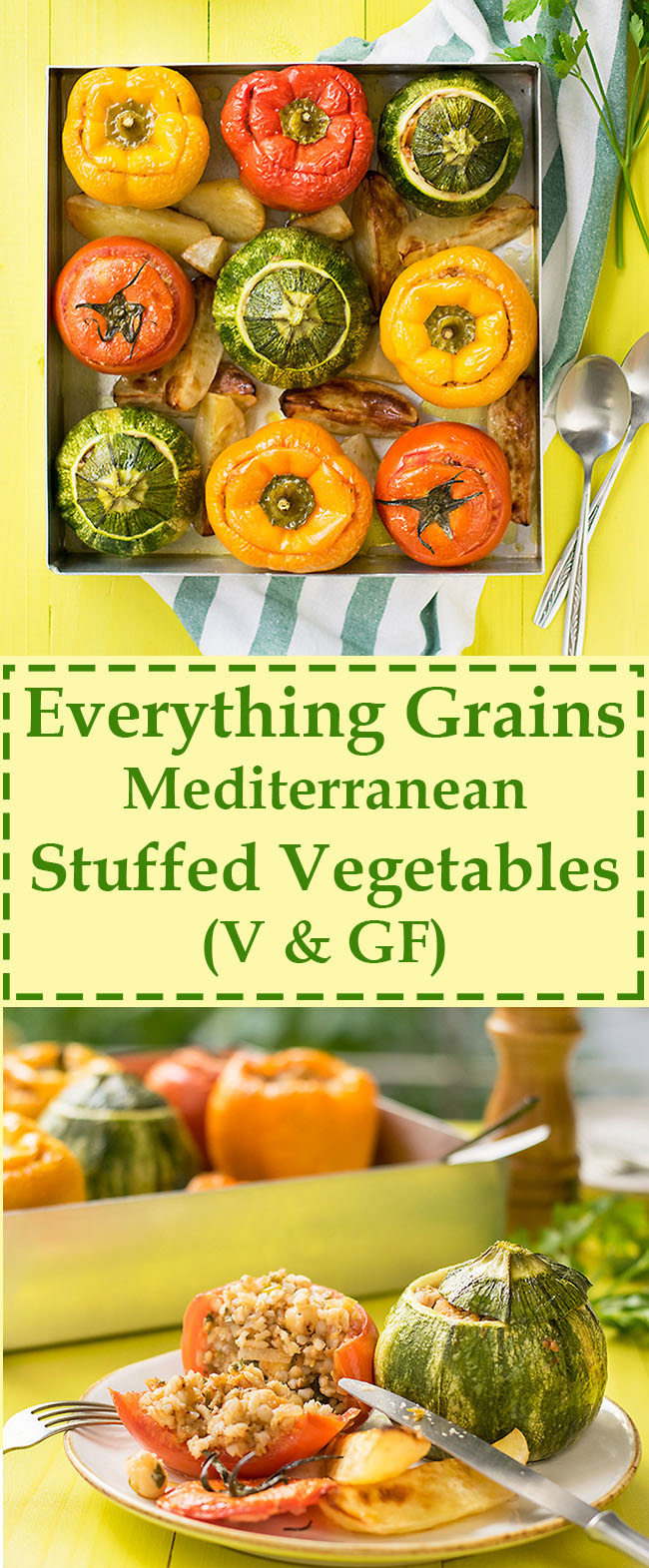 Everything grains Mediterranean stuffed vegetables 7