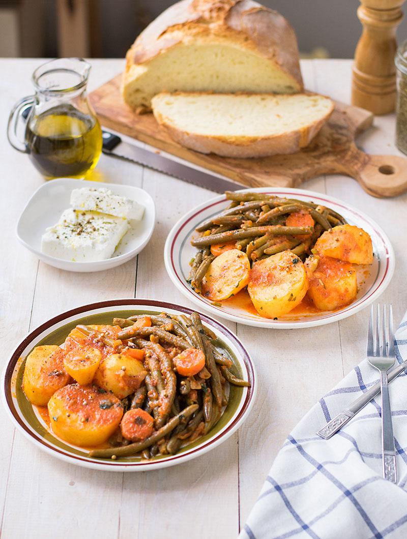 Mediterranean green bean stew 2