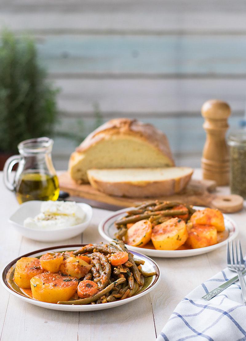 Mediterranean green bean stew 3