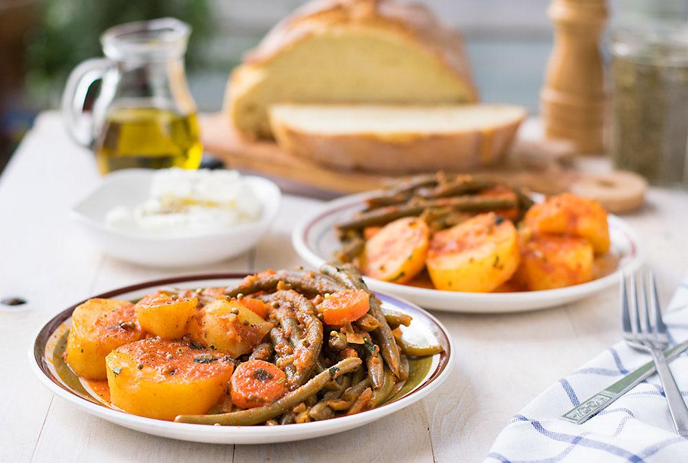 Mediterranean green bean stew 4a