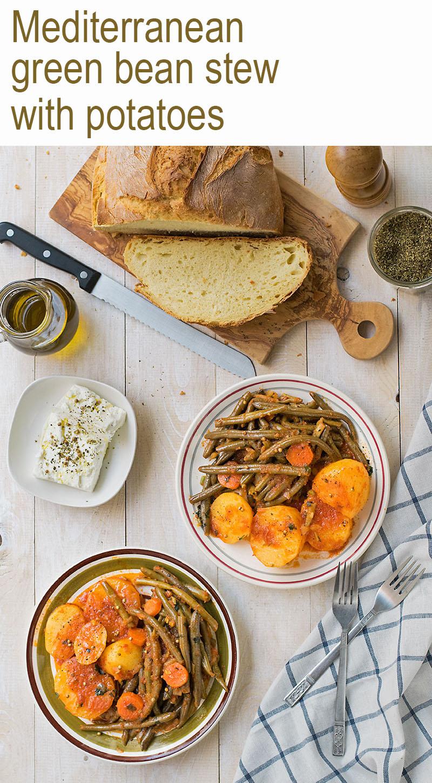 Mediterranean green bean stew 5