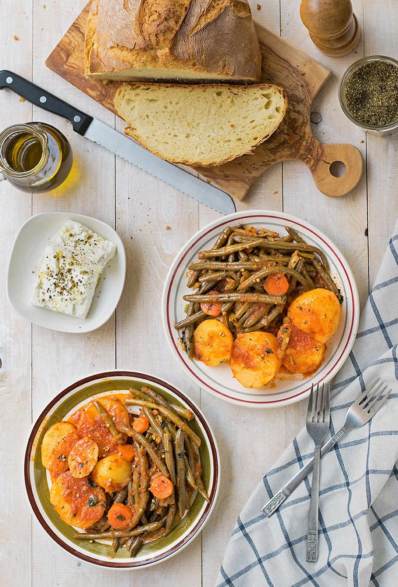 Mediterranean green bean stew