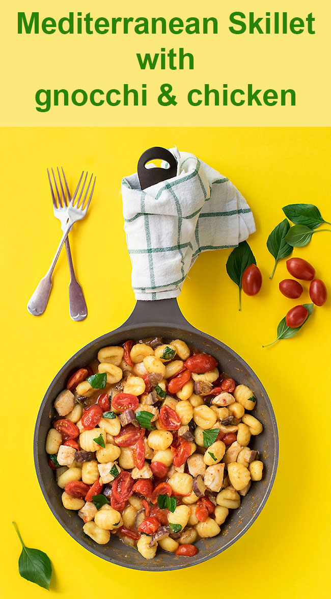 Mediterranean skillet with gnocchi and chicken 6