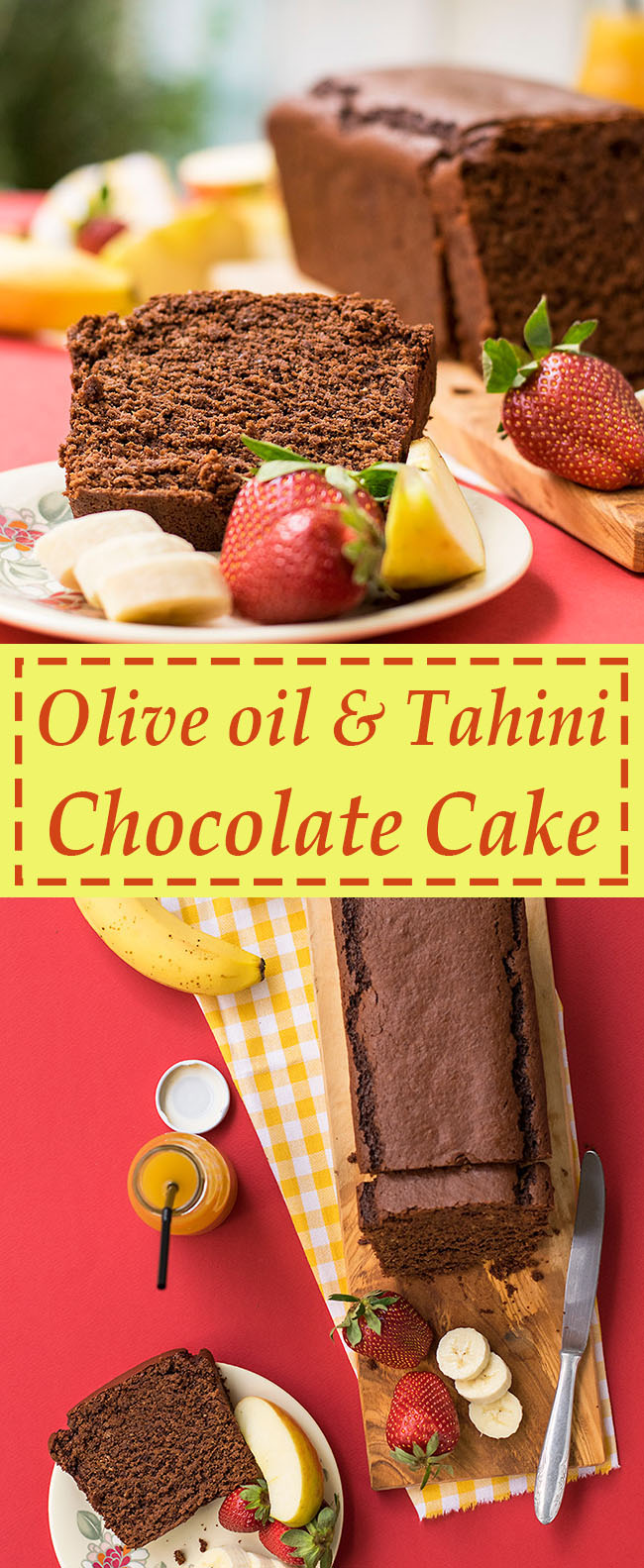 Olive oil & tahini Chocolate Cake 5