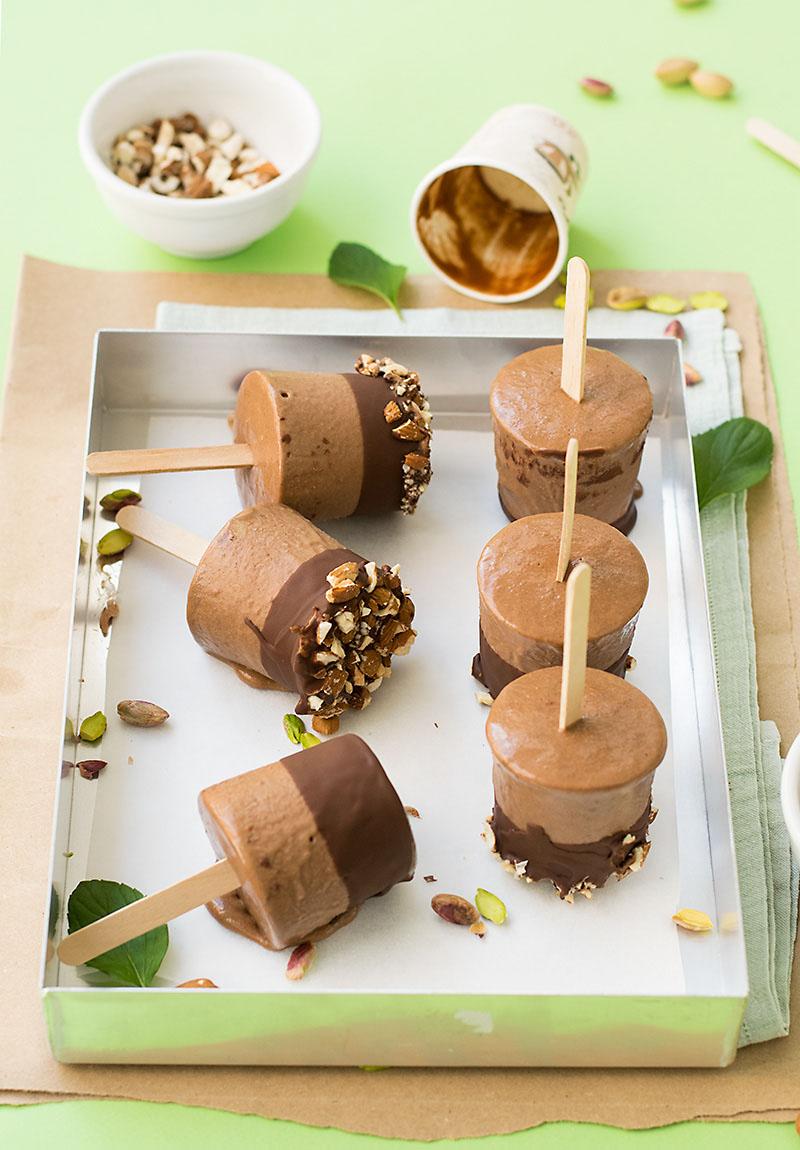 Tahini and chocolate fudge popsicles (V & GF) 3