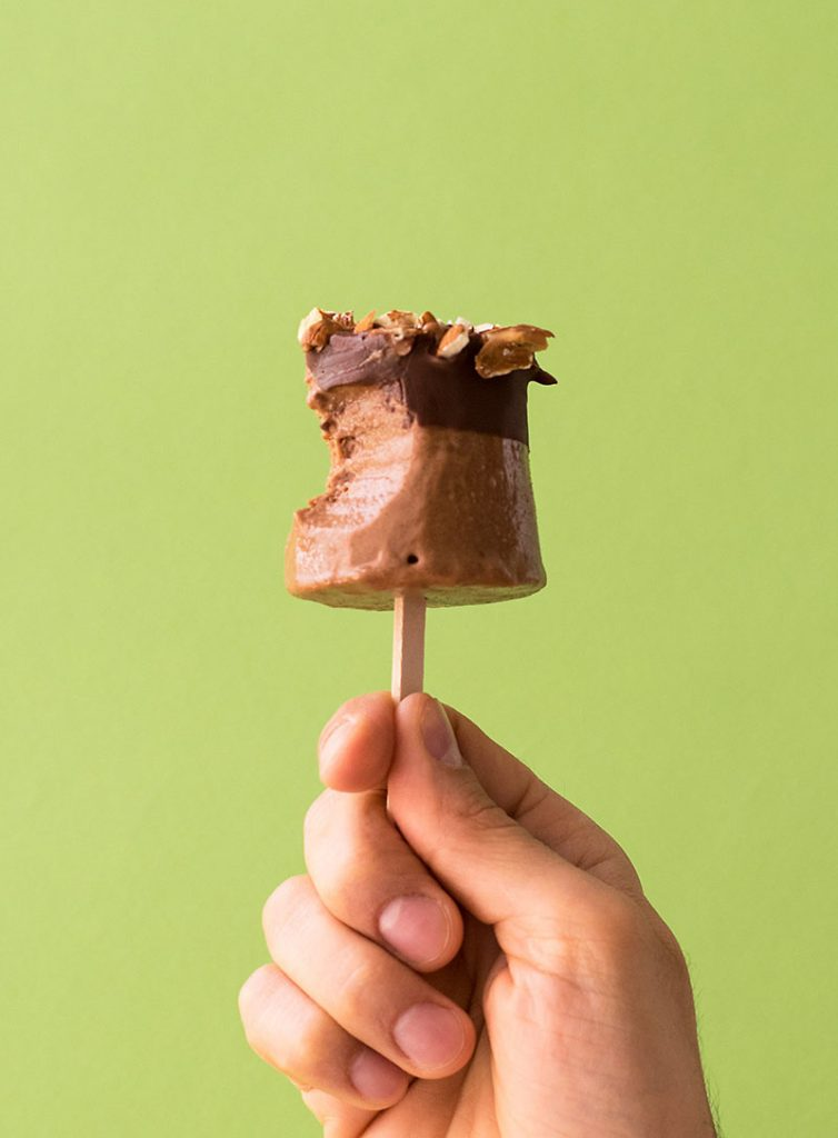 Tahini and chocolate fudge popsicles (V & GF) 5