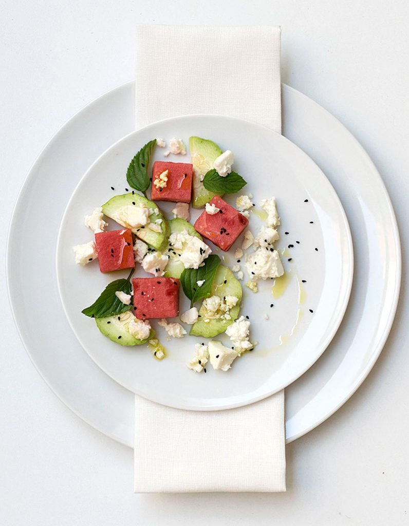 Mediterranean watermelon & feta cheese salad 4
