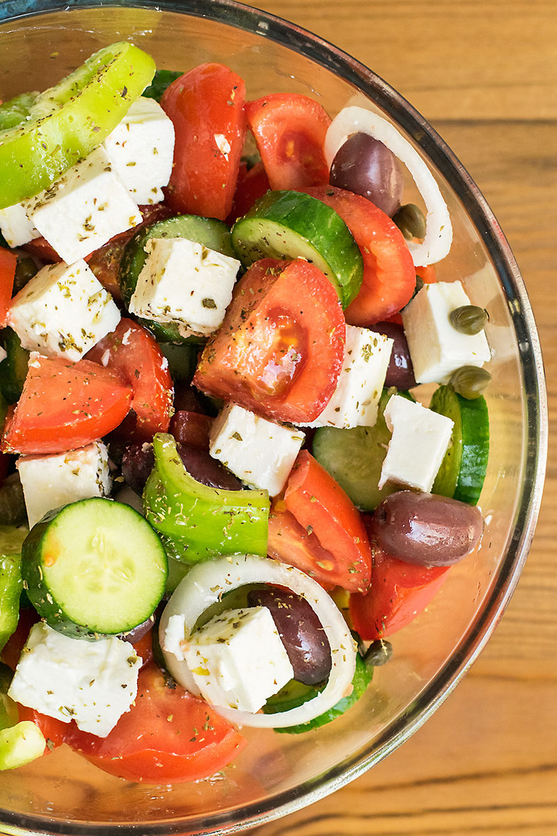 Authentic Greek Salad 2 ways 2