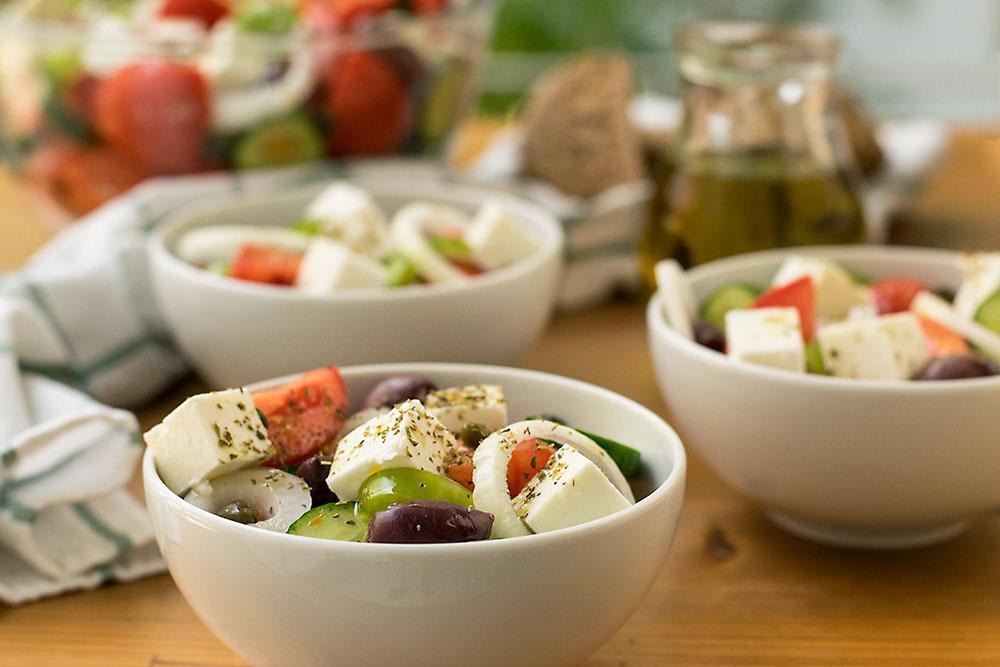 Authentic Greek Salad 2 ways 3